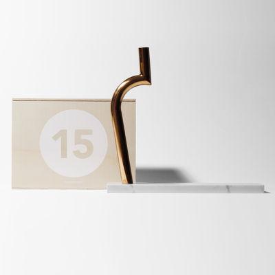 Foto Cofanetto Designerbox#15 / Vaso per un solo fiore Jin Shi - MVW - Designer Box - Rame,Marmo bianco - Metallo