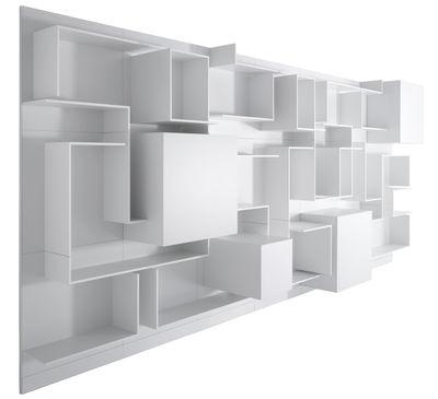 vita n 5 bookcase l 360 x h 180 cm white by mdf italia. Black Bedroom Furniture Sets. Home Design Ideas