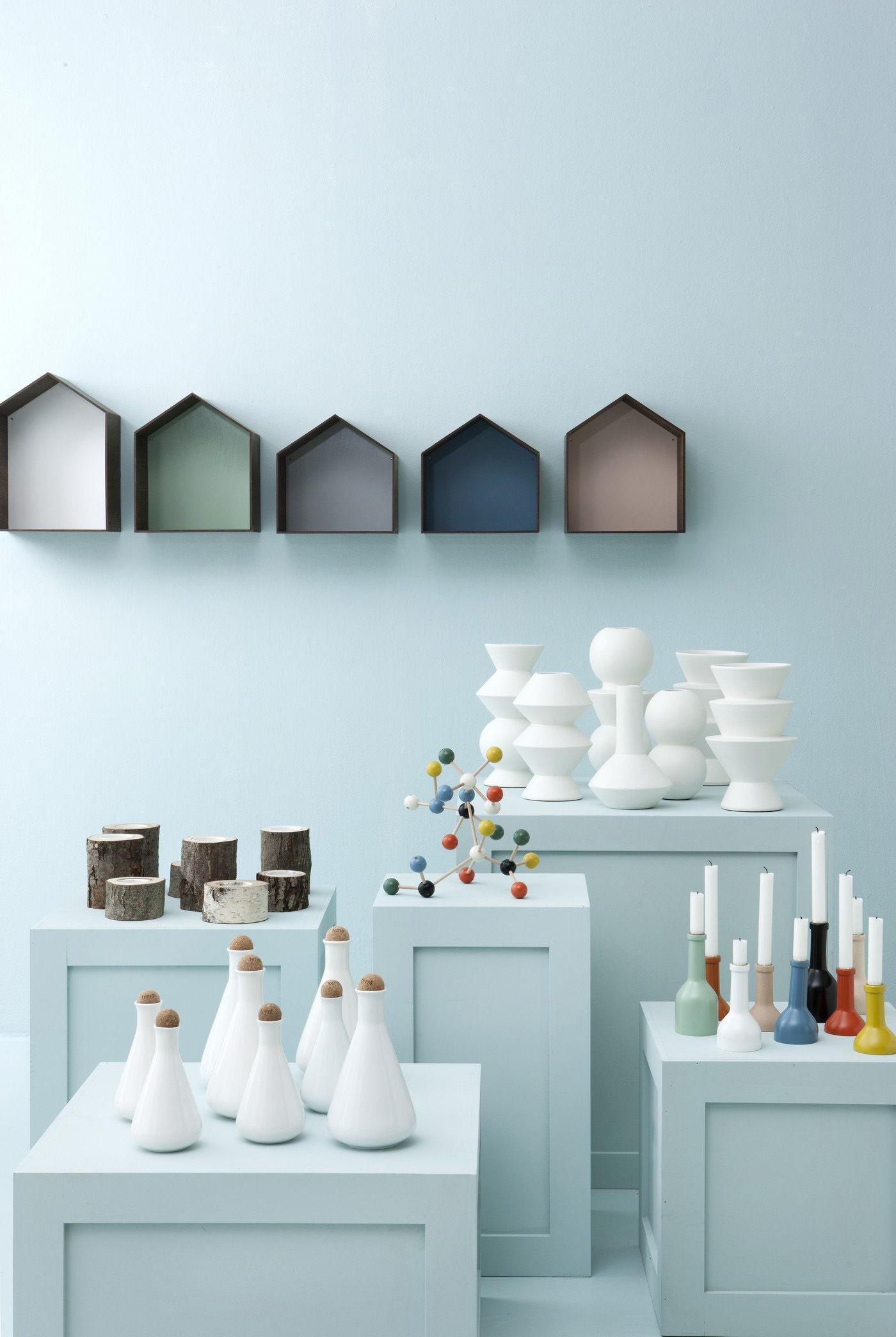 studio shelf w 30 x h 40 cm smoked oak white. Black Bedroom Furniture Sets. Home Design Ideas