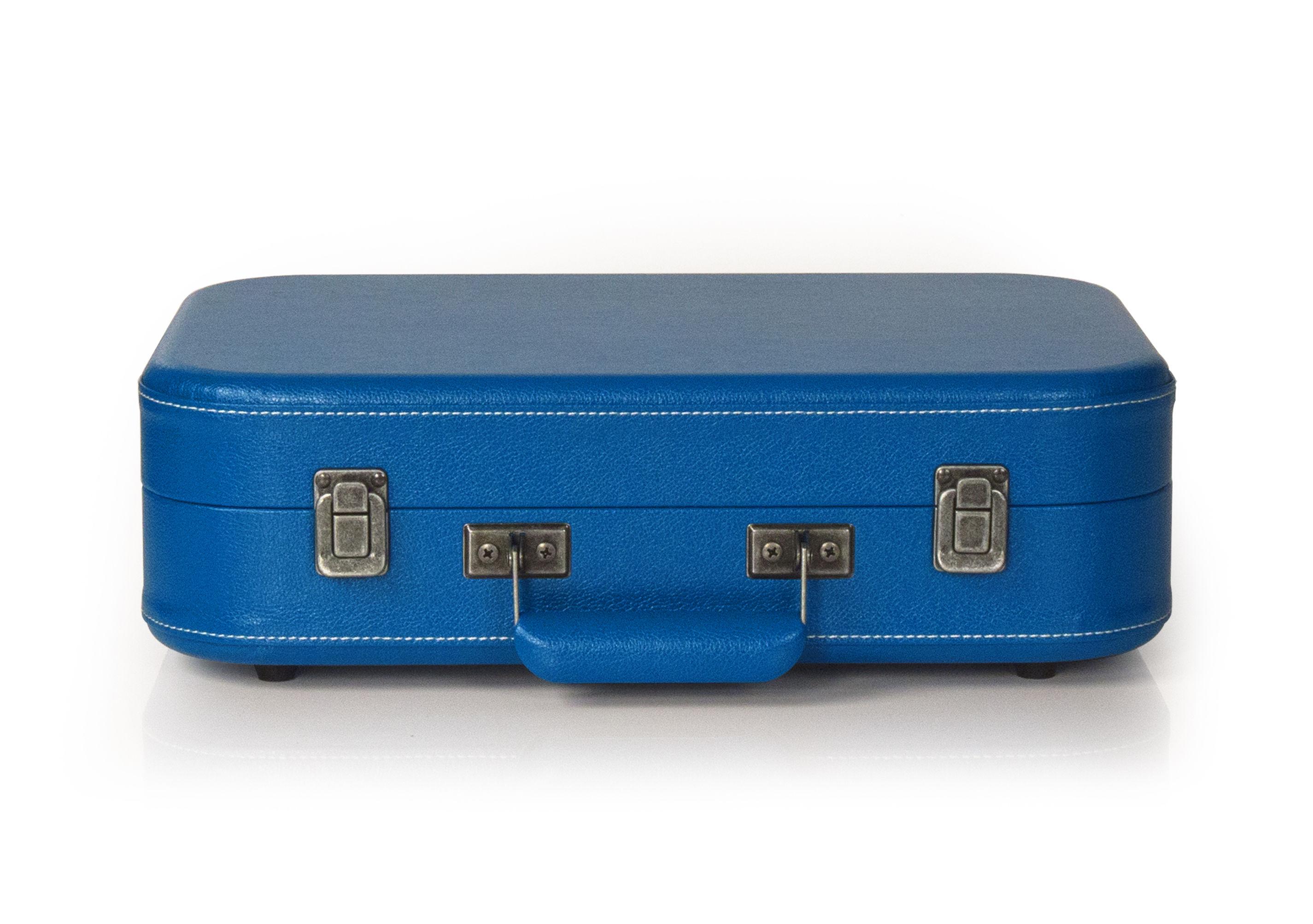Platine Vinyle Coupe Portable Bluetooth Bleu Crosley # Canape Haut Parleur Integre
