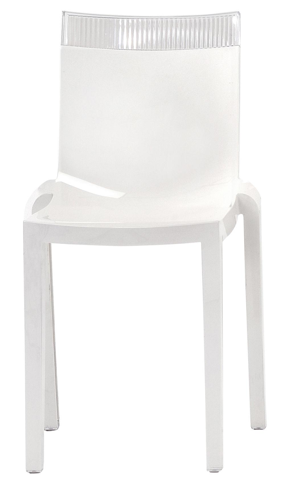 Scopri sedia hi cut struttura bianca laccata bianco - Sedia trasparente kartell ...