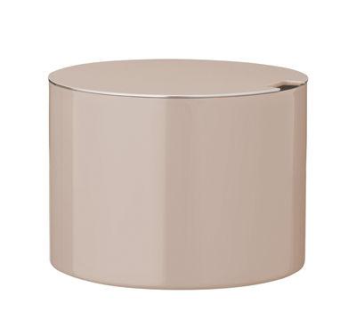 Sucrier Cylinda-Line / Arne Jacobsen, 1967 - Stelton rose poudré en métal