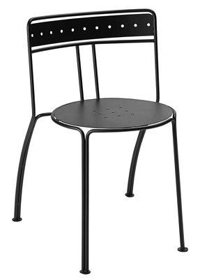 Mobilier - Chaises, fauteuils de salle à manger - Chaise empilable Palais Royal / By Jean-Michel Wilmotte - Métal - Fermob Idoles - Réglisse - Acier