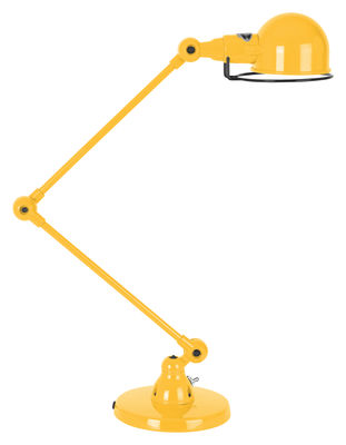 Foto Lampada da tavolo Signal - 2 bracci articolati - H max 60 cm di Jieldé - Senape brillante - Metallo