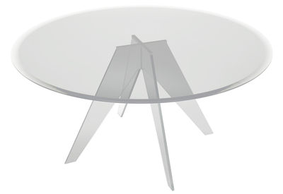 Table Alister / Ø 130 cm - Glas Italia transparent en verre