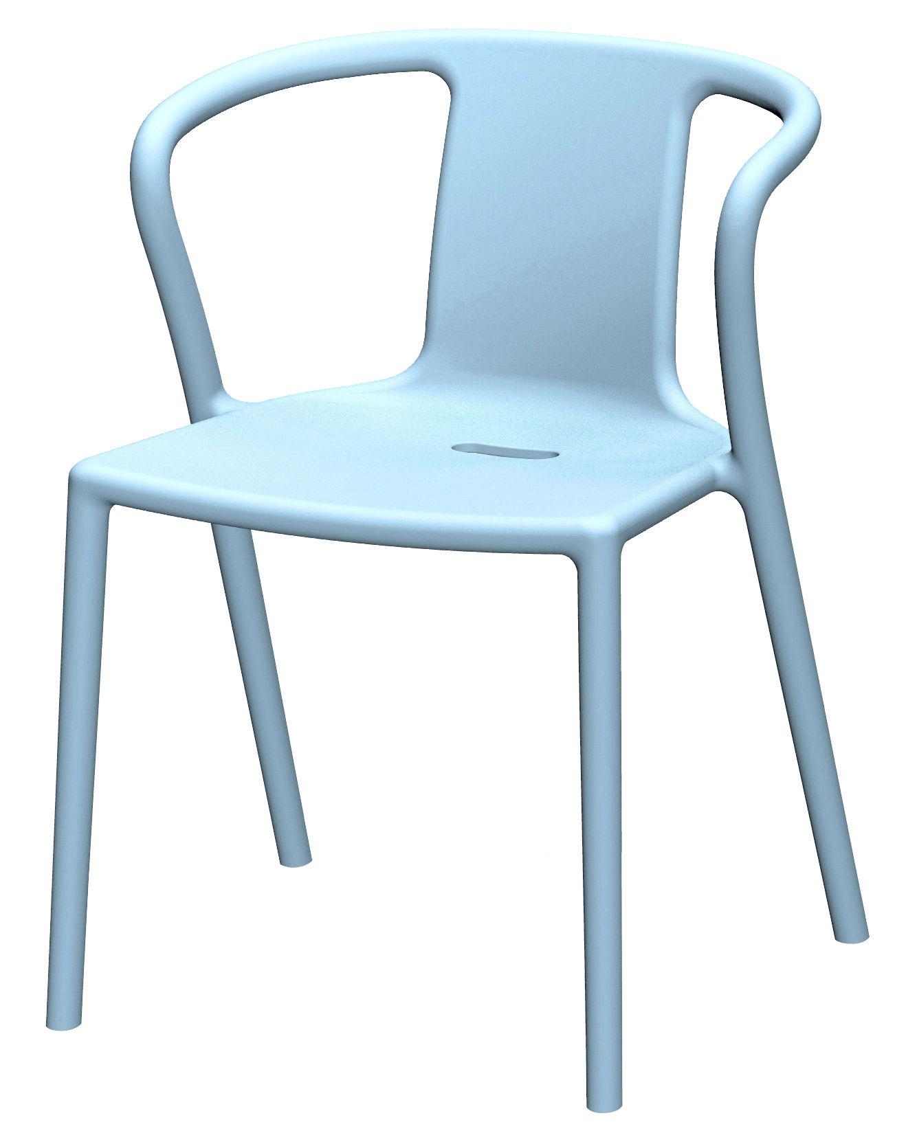 Fauteuil Empilable Air Armchair Polypropyl 232 Ne Bleu Ciel