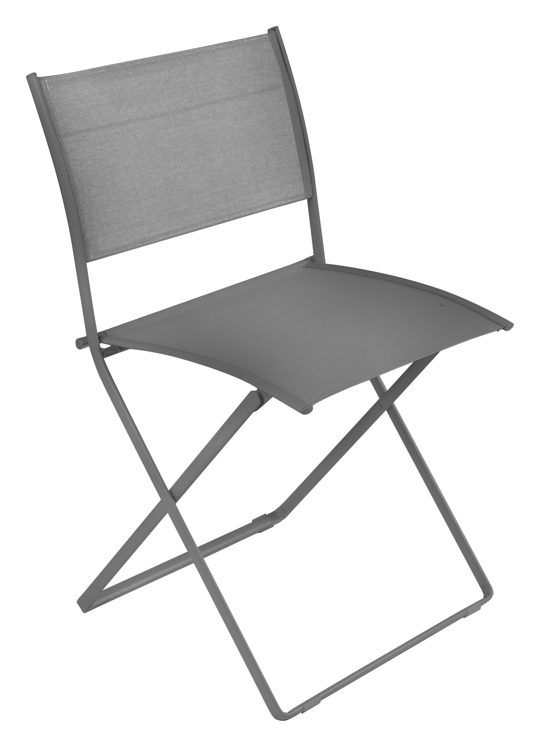 chaise pliante plein air toile gris m tal fermob. Black Bedroom Furniture Sets. Home Design Ideas