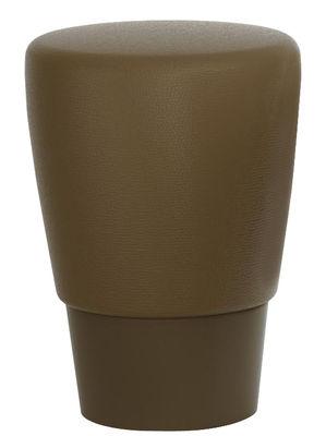 Foto Sgabello Lau - / H 45 cm - Cuscino poliuretano di Slide - Cioccolato - Materiale plastico