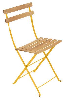 Chaise pliante Bistro / Métal & bois - Fermob bois,miel en bois