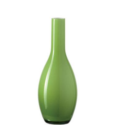 Vase Beauty / H 18 cm - Leonardo vert pomme en verre