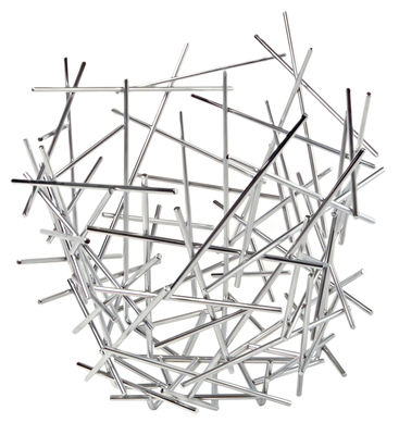 Tableware - Fruit Bowls & Centrepieces - Blow up Basket - Ø 35 x H 31 cm by Alessi - Steel - Stainless steel