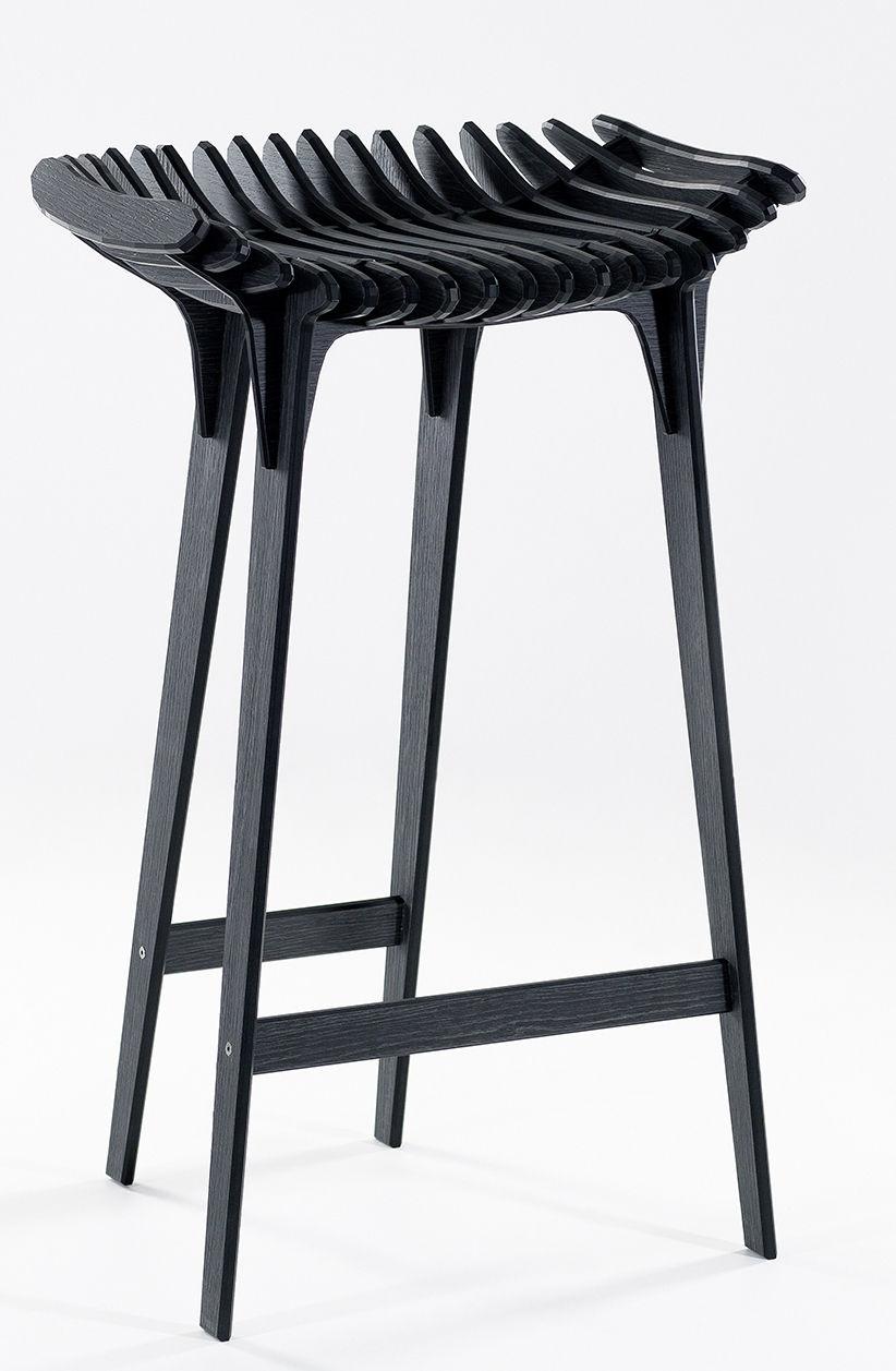 tabouret haut grafite h 65 cm gris charbon ibride. Black Bedroom Furniture Sets. Home Design Ideas