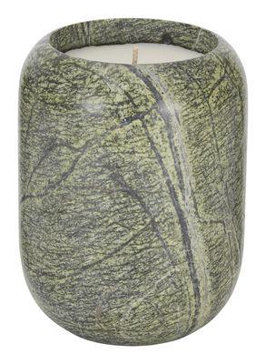 Bougie parfumée Stone Large / Marbre - H 14 cm - Tom Dixon vert en pierre