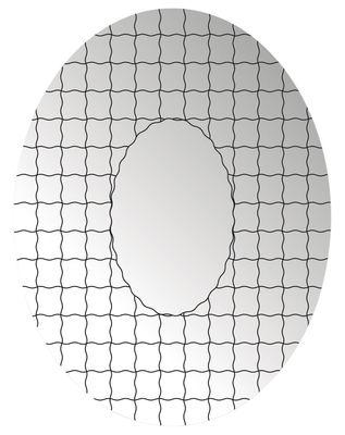 Déco - Miroirs - Miroir autocollant Grid / 49 x 37 cm - Domestic - Noir - Perspex