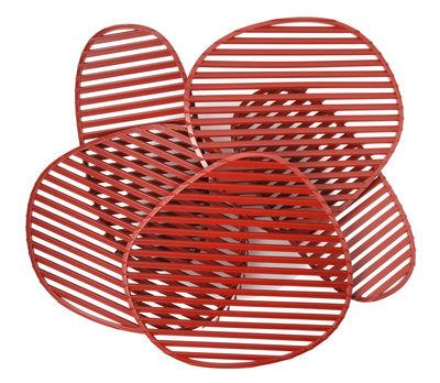 Nuage Wandleuchte / Deckenleuchte - L 63 x H 54 cm - Foscarini - Rot