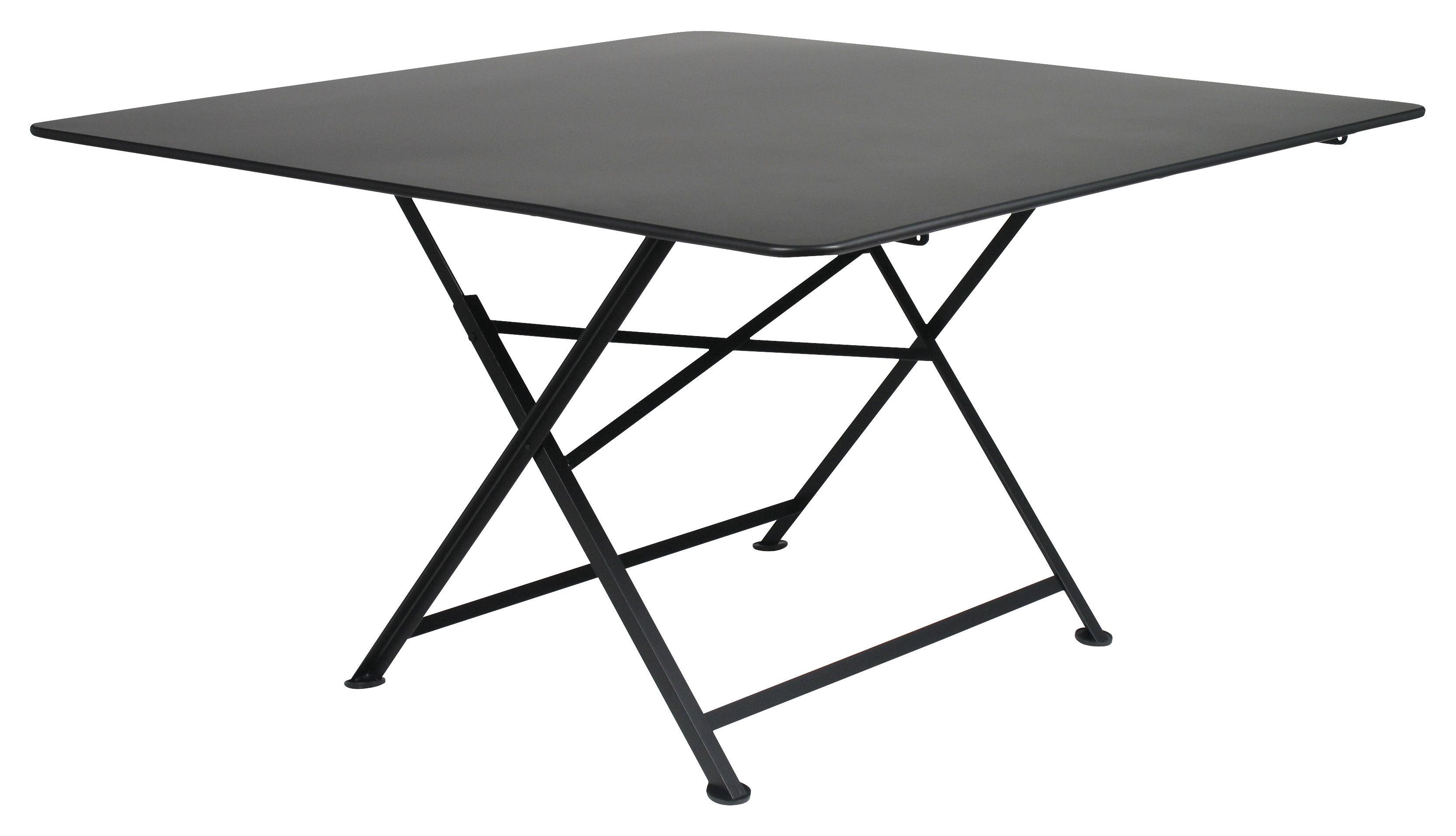 Table cargo pliante de fermob noire made in design - Table pliante design ...