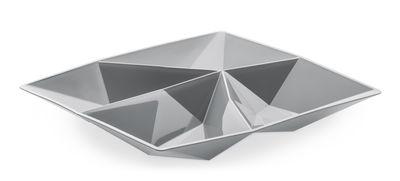 Coupelle Kant pour amuse-gueules / 4 compartiments - Koziol gris froid opaque en matière plastique