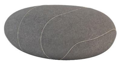 Coussin Xavier Livingstones Laine 50x40 cm Smarin gris foncé en tissu