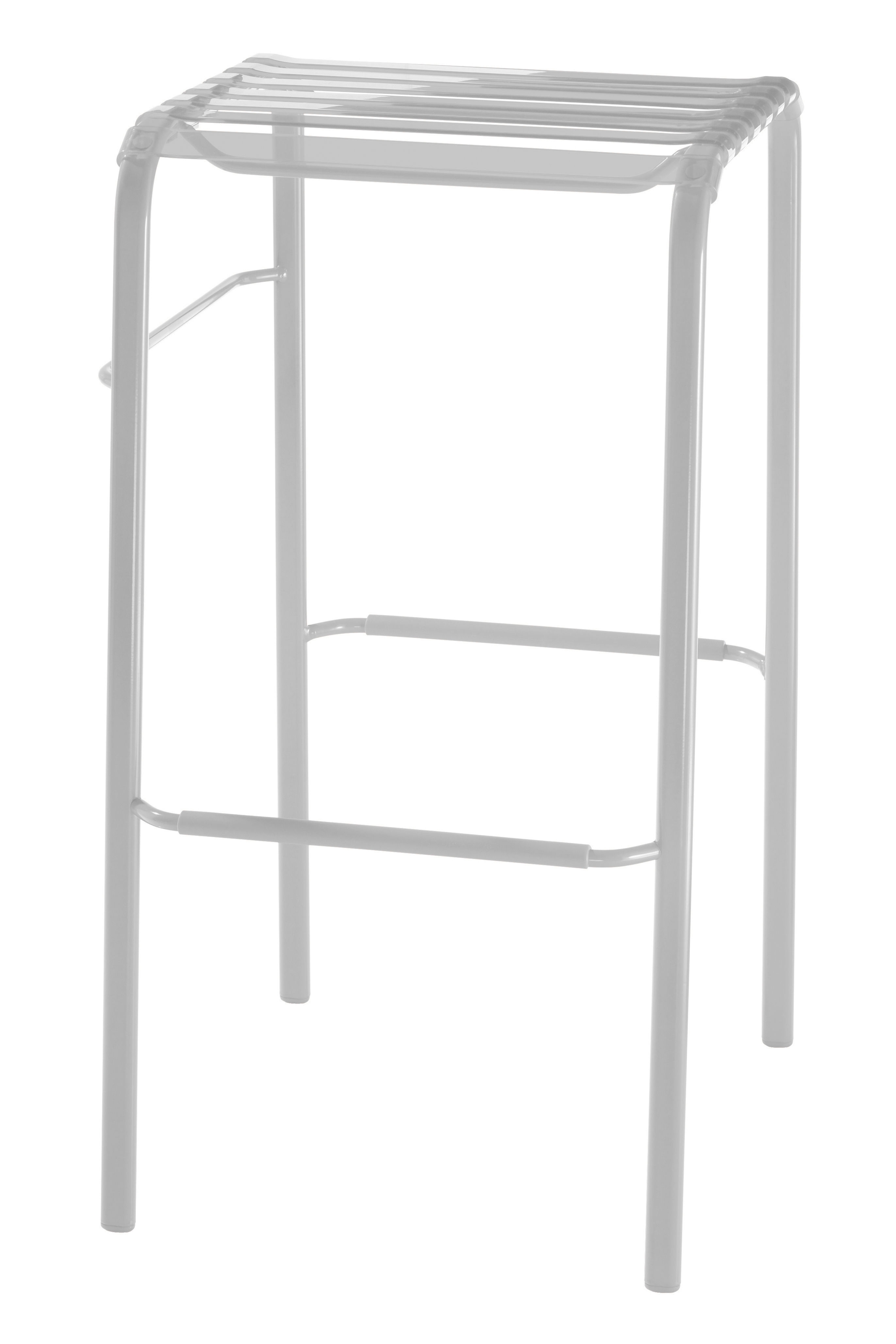 tabouret de bar striped h 68 cm assise plastique blanc h 68 cm magis. Black Bedroom Furniture Sets. Home Design Ideas