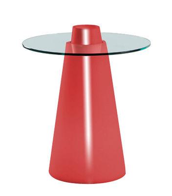 Peak Tisch H 80 cm - Slide - Rot lackiert