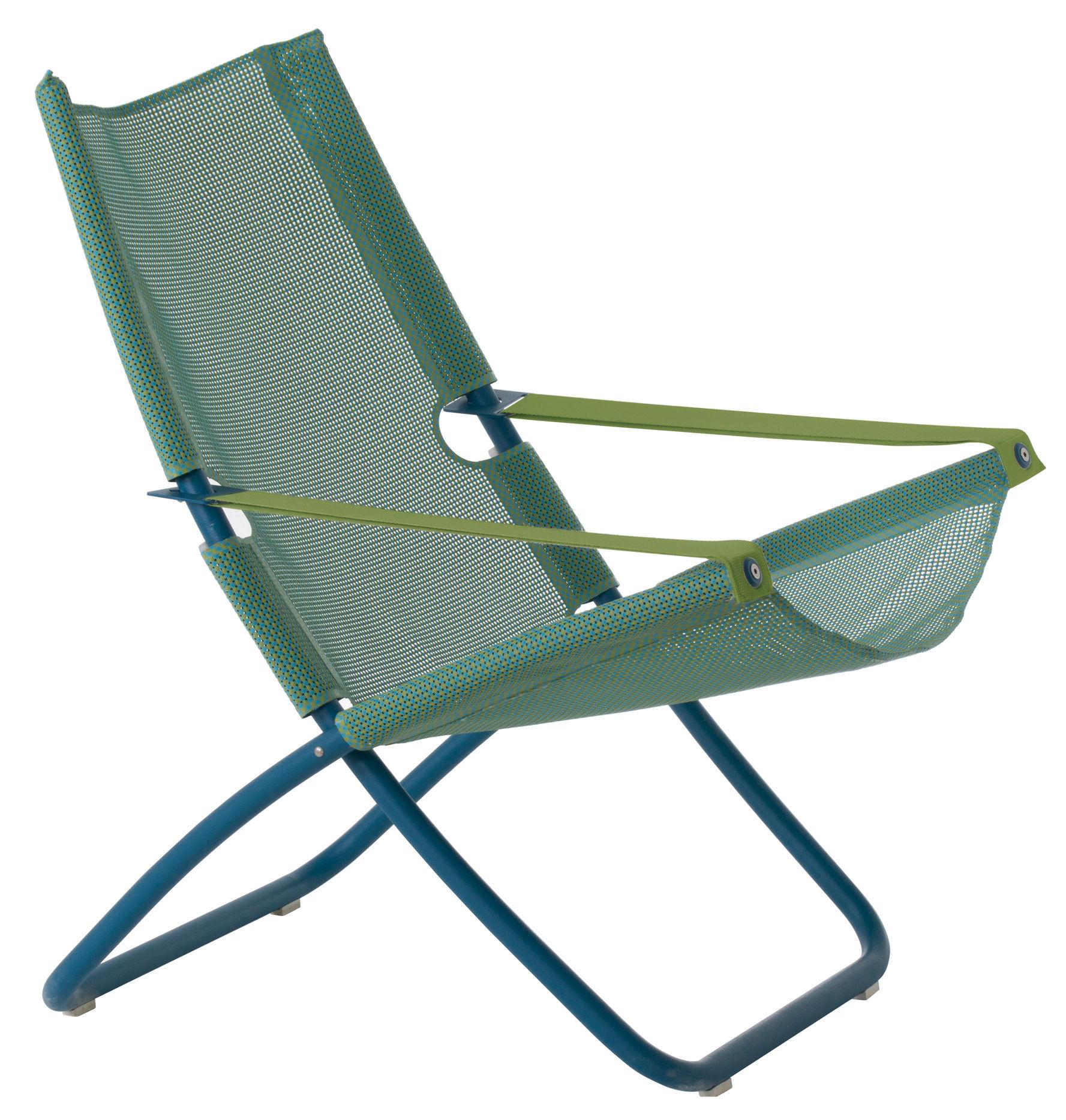chaise longue snooze pliable 2 positions bleu emu. Black Bedroom Furniture Sets. Home Design Ideas