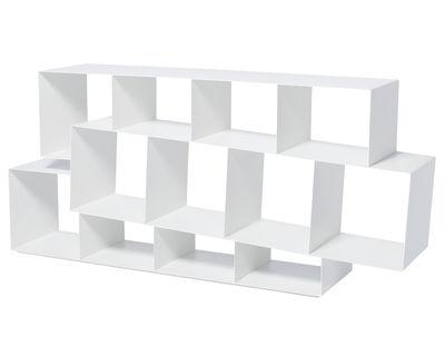 Arredamento - Scaffali e librerie - Libreria Squilibri - L 160 cm x H 73 cm di Skitsch - Bianco - metallo laccato
