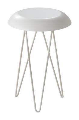 Tavolino d'appoggio Meduse - Ø 30 x H 44 cm di Casamania - Bianco - Metallo