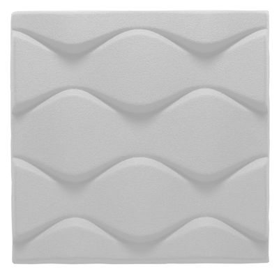 Foto Pannello acustico a muro Soundwave Flo di Offecct - Bianco - Materiale plastico