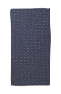Drap de bain Sento / Organic - 140 x 70 cm - Ferm Living bleu,gris clair en tissu