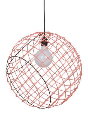 Sphere XL Pendelleuchte / Metall - Ø 50 cm - Forestier - Schwarz,Neonorange