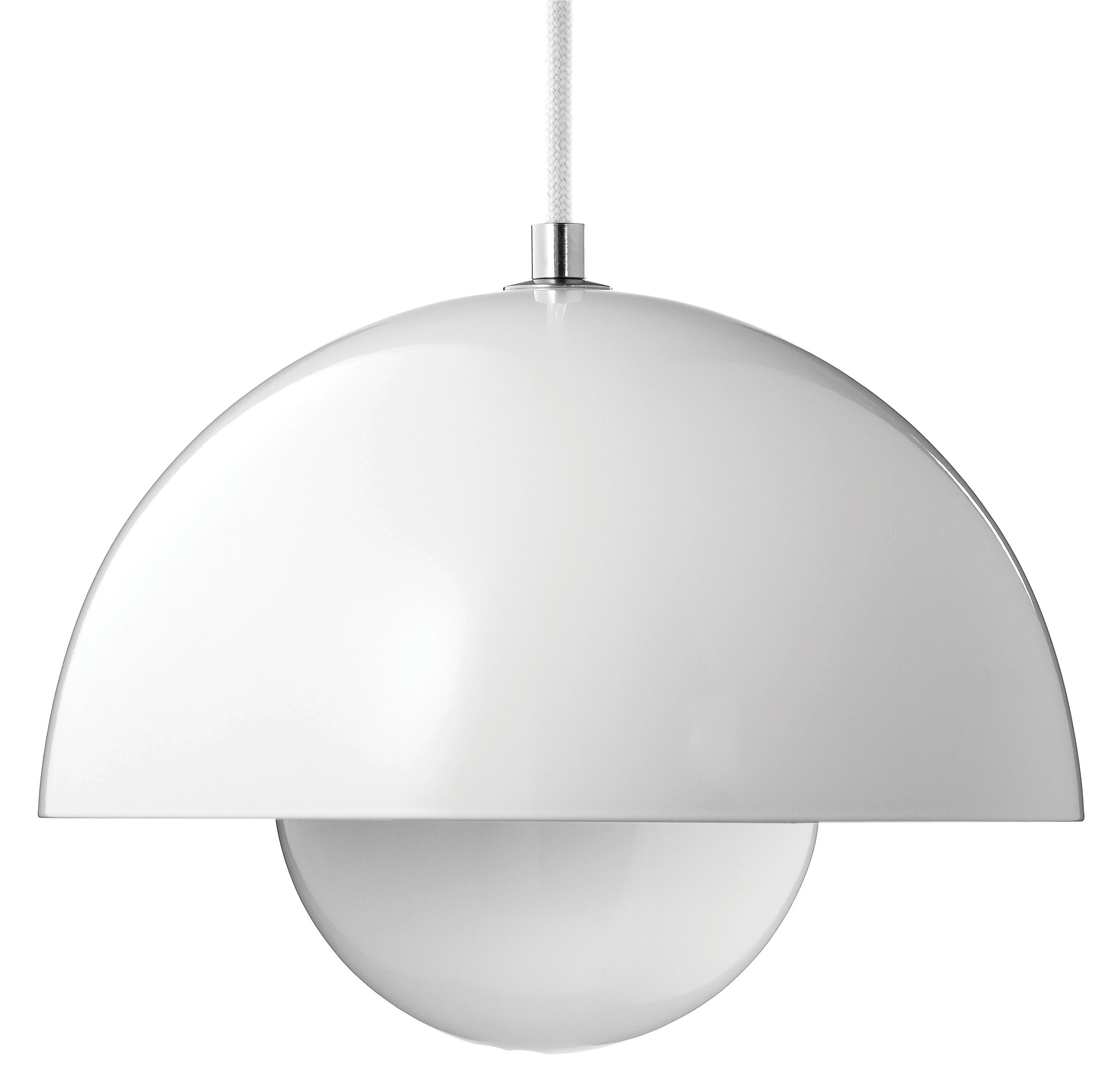 Flowerpot vp1 pendant 23 cm white by tradition for Lampe suspension blanche
