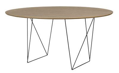 Trestle Tisch / Ø 150 cm - POP UP HOME - Schwarz,Nussbaum