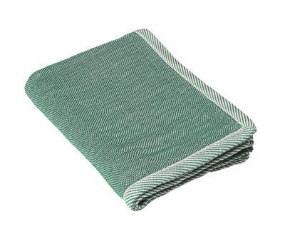 Plaid Ripple / 115 x 180 cm - Muuto blanc,vert en tissu