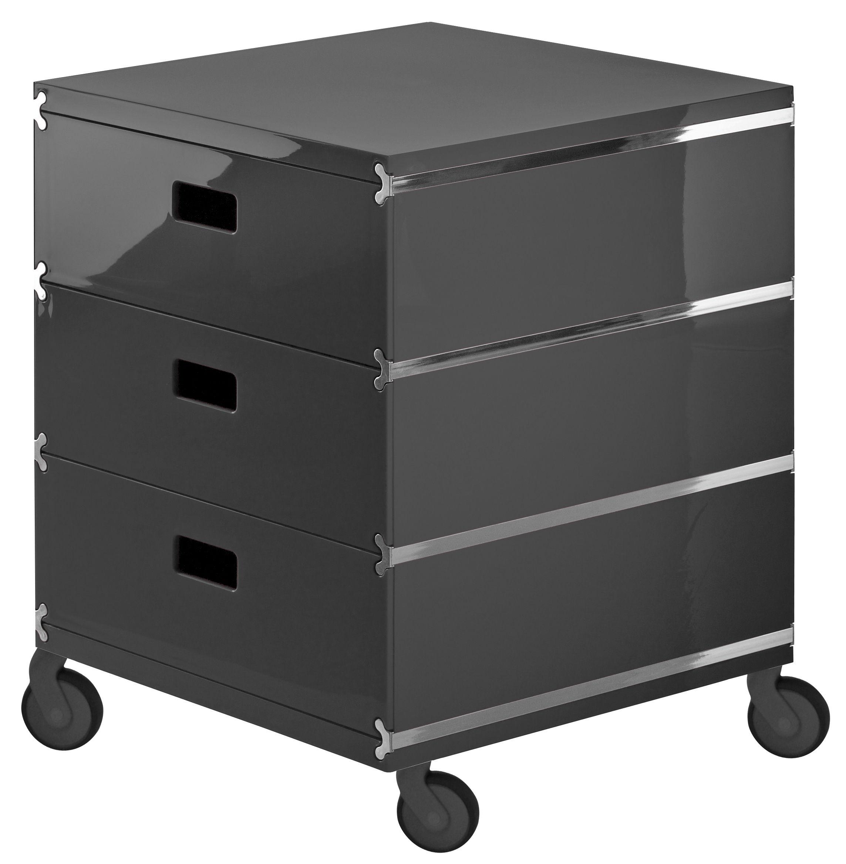 plus unit 3 stapelbare schubladen auf rollen magis aufbewahrungsm bel. Black Bedroom Furniture Sets. Home Design Ideas