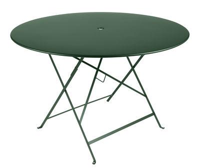 table pliante bistro 117 cm 6 8 personnes trou parasol c dre fermob. Black Bedroom Furniture Sets. Home Design Ideas