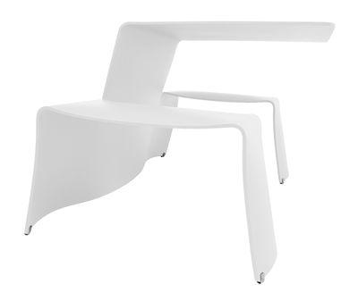 Set table & bancs Picnik - Extremis blanc en métal