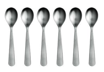 Tableware - Cutlery - Normann Coffee, tea spoon - Set of 6 tea spoons by Normann Copenhagen - Mat steel - Steel