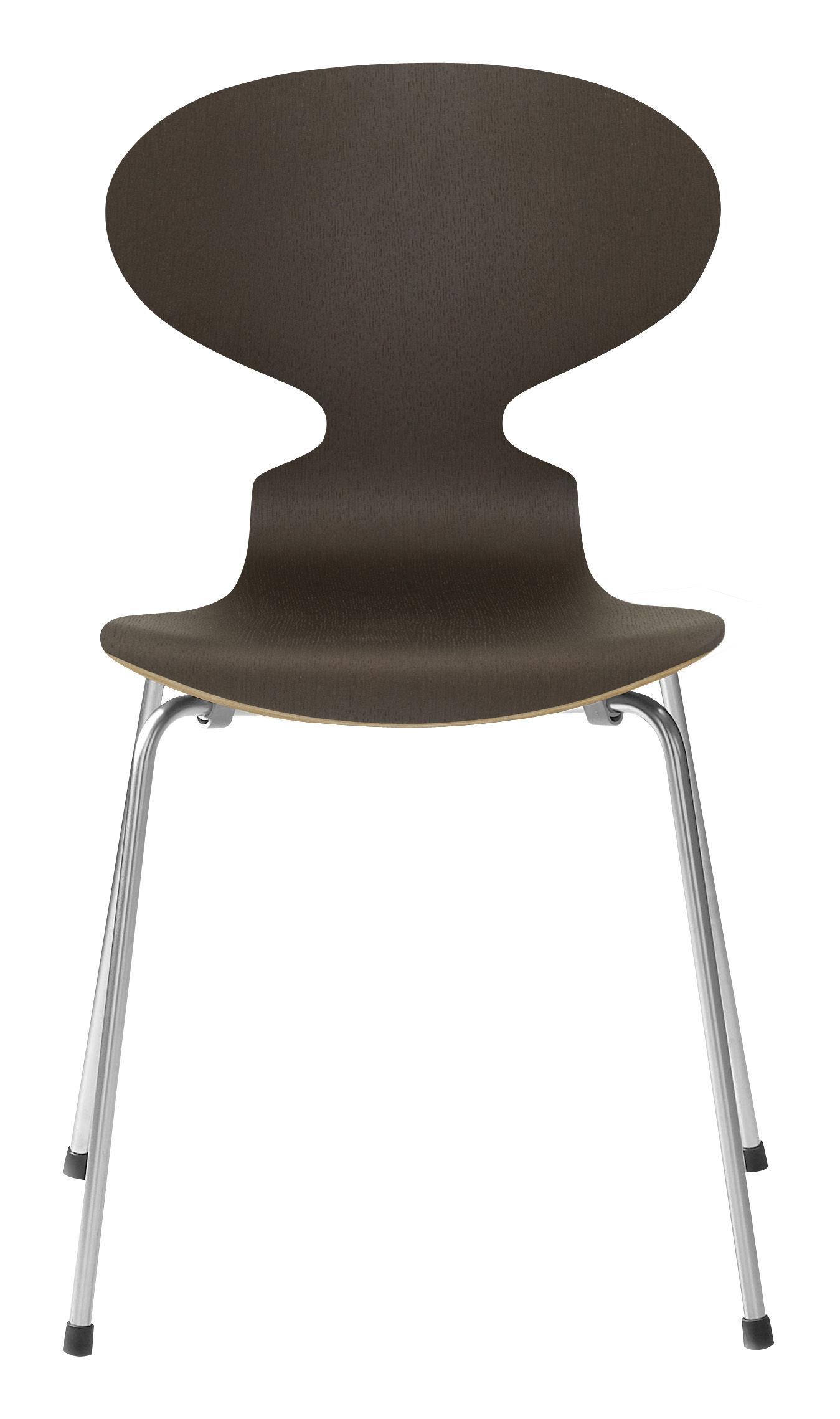 chaise empilable fourmi bois naturel ch ne teint fonc fritz hansen. Black Bedroom Furniture Sets. Home Design Ideas