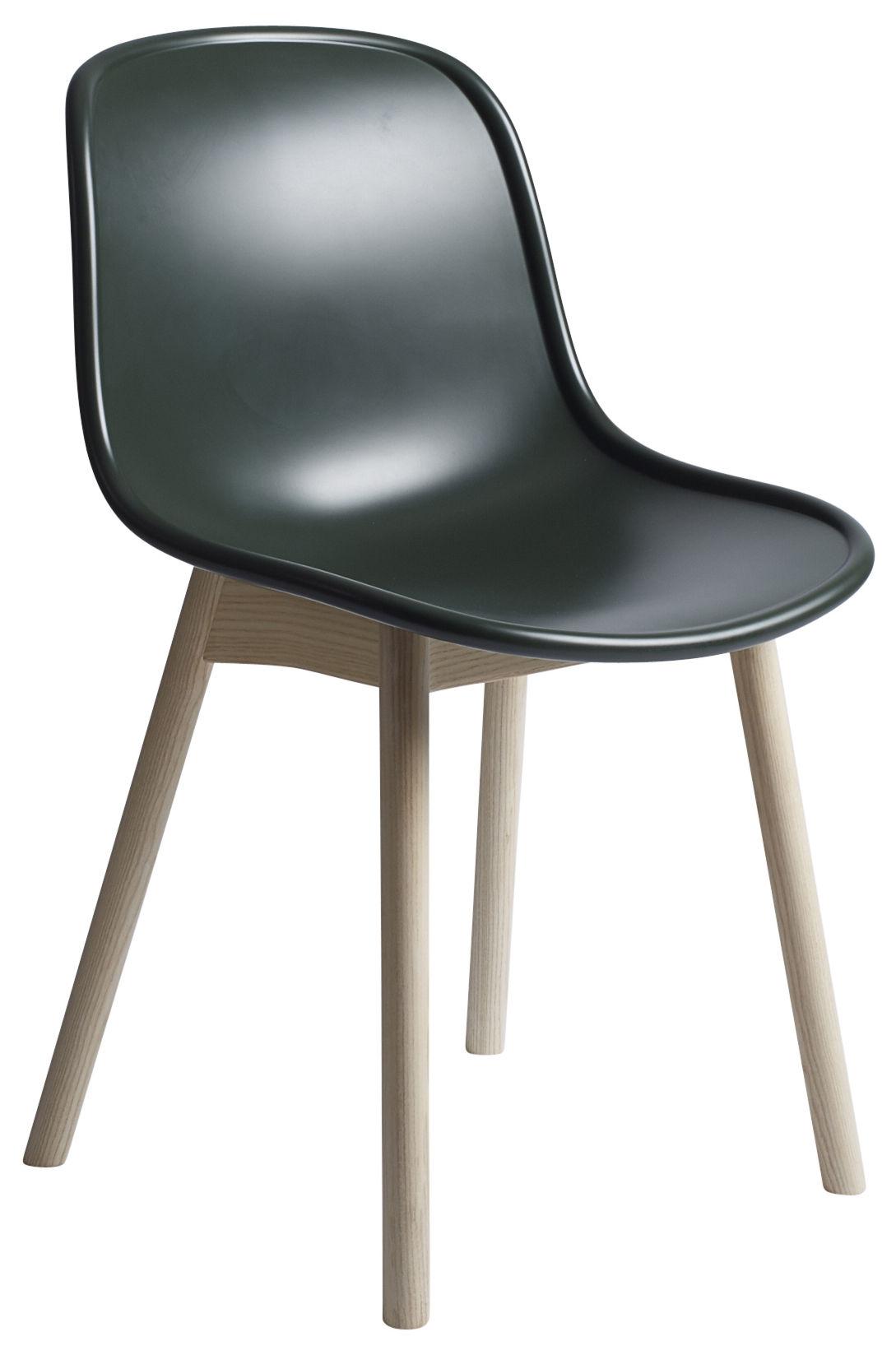 chaise neu plastique pieds bois vert pieds bois hay. Black Bedroom Furniture Sets. Home Design Ideas