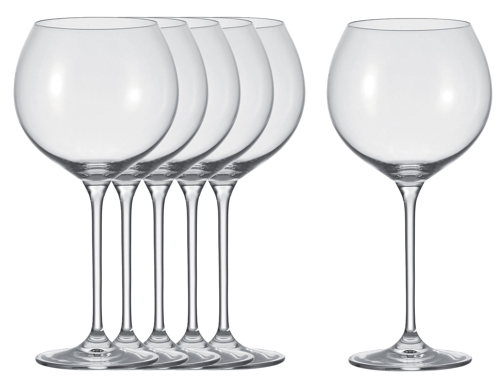 verre vin cheers lot de 6 verres bourgogne transparent leonardo. Black Bedroom Furniture Sets. Home Design Ideas