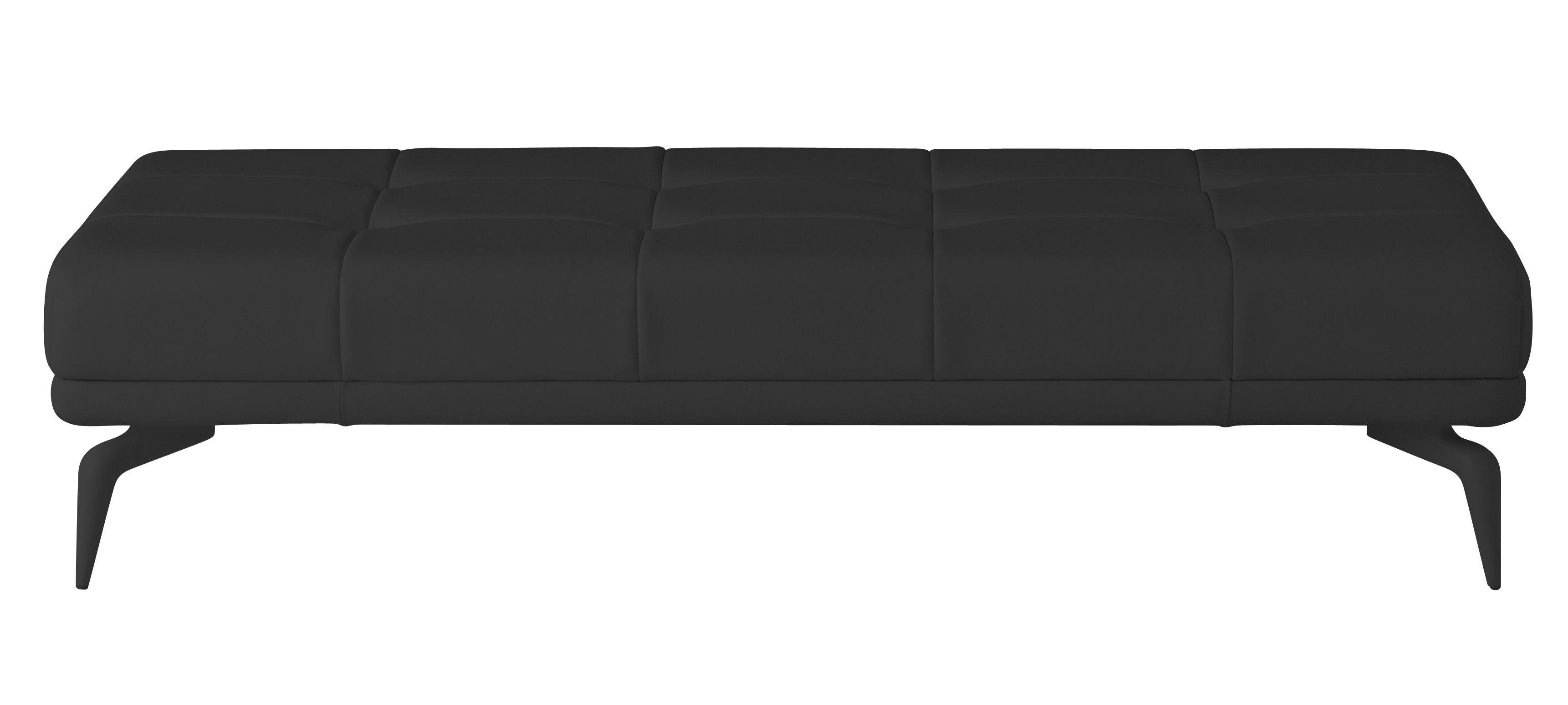 banc leeon cuir noir driade. Black Bedroom Furniture Sets. Home Design Ideas