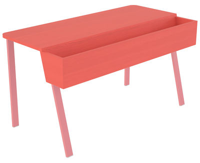 bureau wing avec bac de rangement jardini re l 90 cm rouge pi tement rose ineke hans. Black Bedroom Furniture Sets. Home Design Ideas