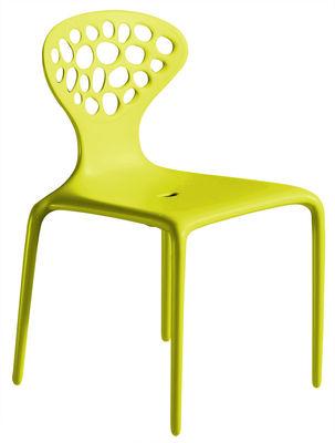 chaise empilable supernatural plastique vert moroso. Black Bedroom Furniture Sets. Home Design Ideas