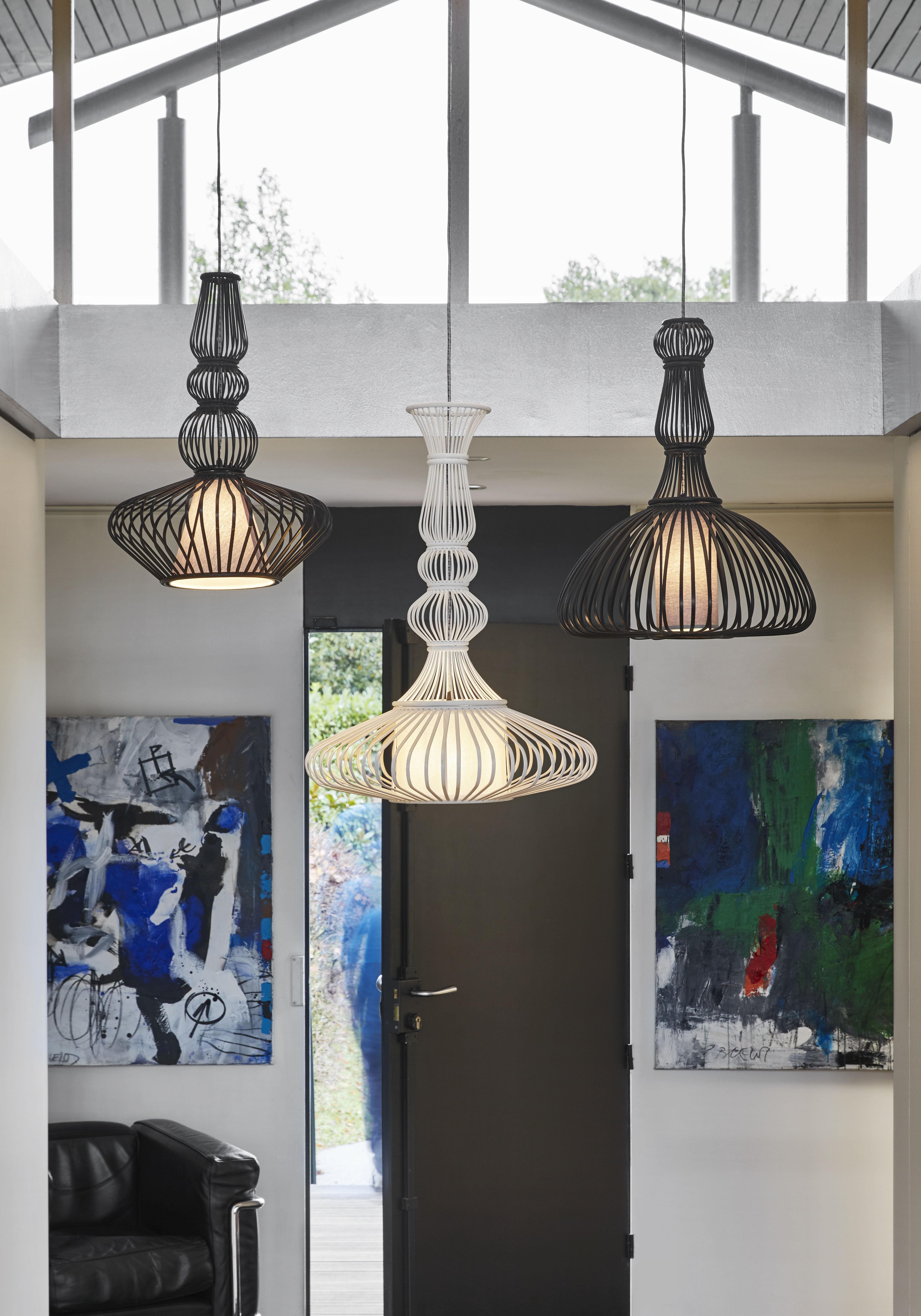 suspension el gance bambou 53 x h 72 cm blanc forestier made in design. Black Bedroom Furniture Sets. Home Design Ideas