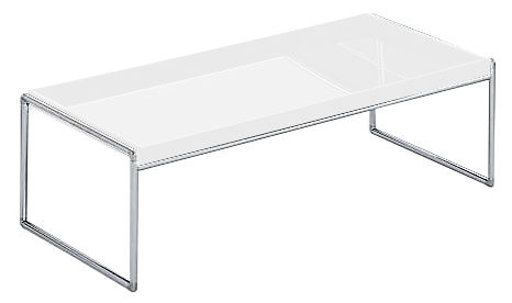 table basse trays rectangulaire 80 x 40 cm blanc kartell. Black Bedroom Furniture Sets. Home Design Ideas