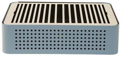 Image of Barbecue portatile a carbone Mon Oncle - / Portatile - 44 x 32 cm di RS BARCELONA - Blu - Metallo