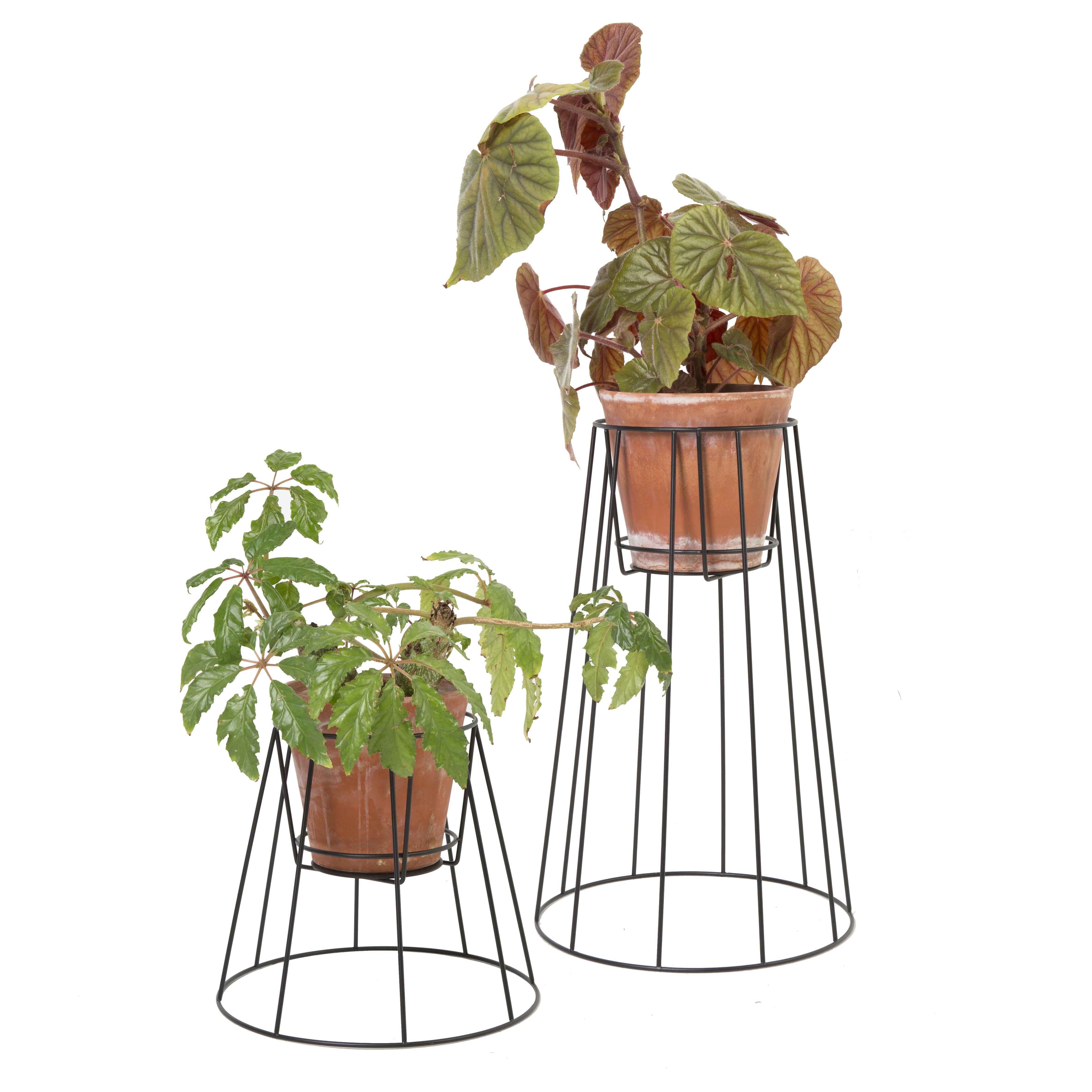 support pour pot de fleurs cibele large h 60 cm noir ok design pour sentou edition. Black Bedroom Furniture Sets. Home Design Ideas