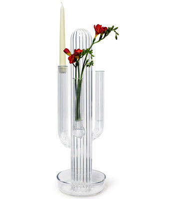 Interni - Vasi - Candeliere Cacto - vaso di Skitsch - Trasparente - Vetro