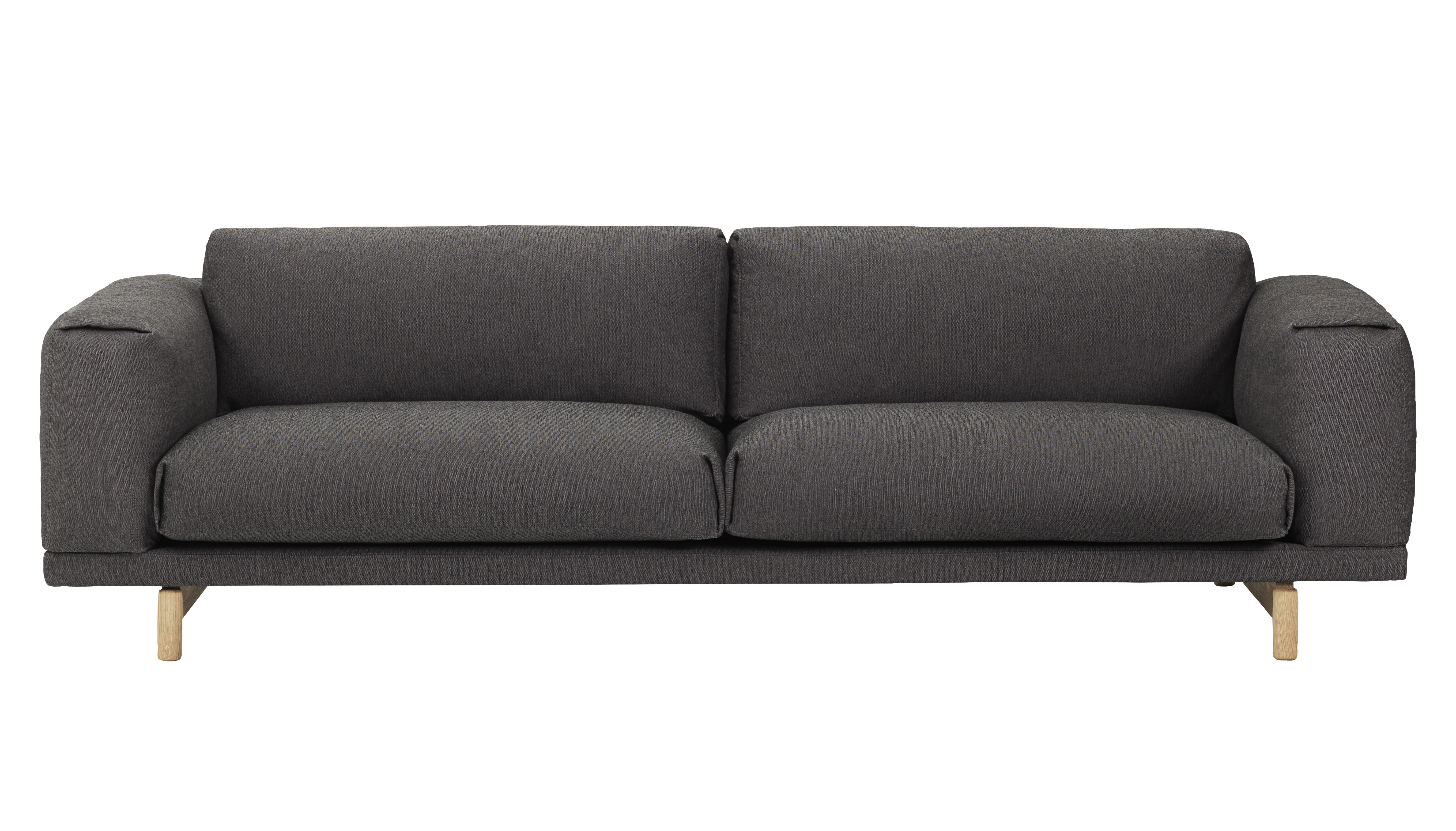 rest 3 sitzer mit baumwoll bezug muuto sofa. Black Bedroom Furniture Sets. Home Design Ideas