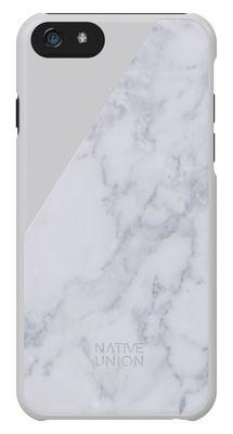 Accessoires - Objets connectés, accessoires high tech - Coque iPhone 6 Clic Marble / Marbre véritable - Native Union - Blanc / Marbre blanc - Marbre, Plastique